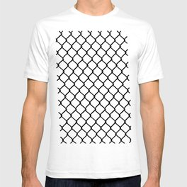 Chain Link Black on Blush T-shirt