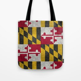 State flag of Flag of Maryland, Vintage retro style Tote Bag