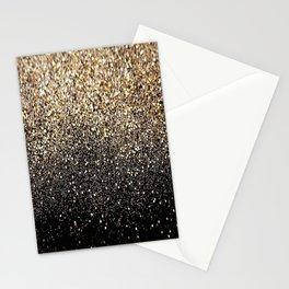 Black & Gold Sparkle Stationery Cards
