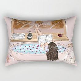 Bath time autumn Rectangular Pillow