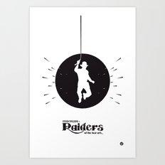The Black Collection' Raiders Art Print