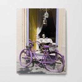 Lavender Bicycle Metal Print