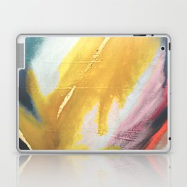 Ambition: a colorful abstract piece in bold yellow, blue, pink, red, and gold Laptop & iPad Skin