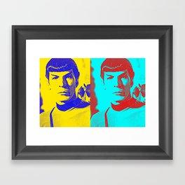 Science Officer Spock (Andy Warhol Remix) Framed Art Print
