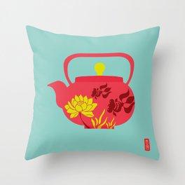 Chinese Antique - Tea pot Throw Pillow