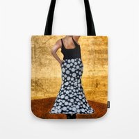 spanish Tote Bags featuring Spanish Dancer by Anthony M. Davis