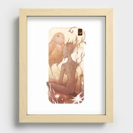 Fairy and Bird Recessed Framed Print