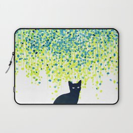 Cat in the garden under willow tree Laptop Sleeve