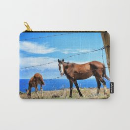 Horses against a blue sky Carry-All Pouch