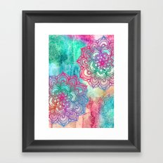 Round & Round the Rainbow Framed Art Print