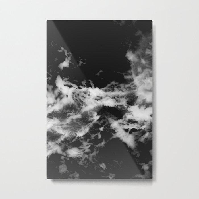 Waves of Marble Metal Print