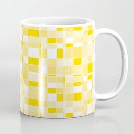 Mod Gingham - Yellow Coffee Mug