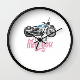 I Wheelie Like You Wall Clock