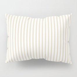 Christmas Gold and White Mattress Ticking Stripes Pillow Sham