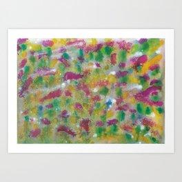 Bonnie Scottish Thistle Meadow Watercolour Painting Art Print