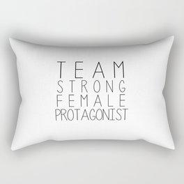 team strong female protagonist white Rectangular Pillow