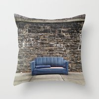 sofa Throw Pillows featuring sofa free by danielle marie