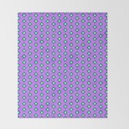 Mandala pattern smal purple Throw Blanket