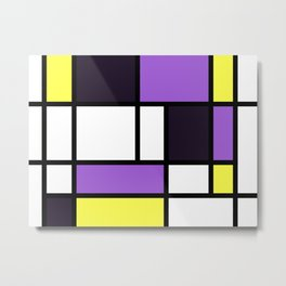 Nonbinary Pride Basic Lined Rectangles Metal Print