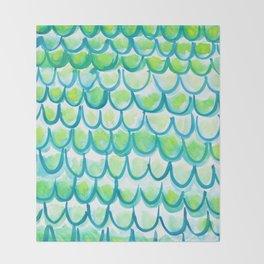Mermaid Scales 02 Throw Blanket