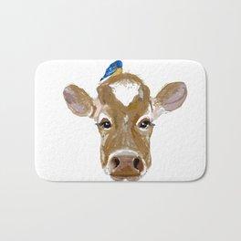 Bluebird Cow Bath Mat