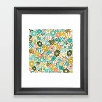 February Floral Framed Art Print