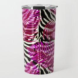 Zebra in cherry Travel Mug