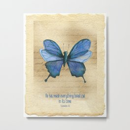 Everything Beautiful Butterfly Metal Print