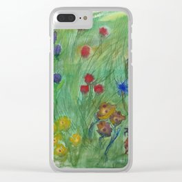 Dream of a flower fields Clear iPhone Case
