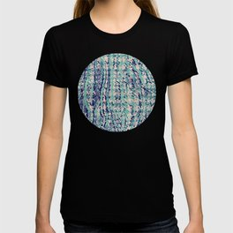 houndstooth texture on scribble in eton blue T-shirt