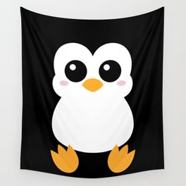 Cute Pinguin Wall Tapestry