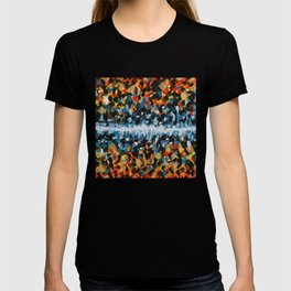 Fire and Ice Abstract Painting- Warm and Cool Colors T-shirt