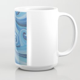 Parting Waves abstract ocean sea swirls painting Coffee Mug