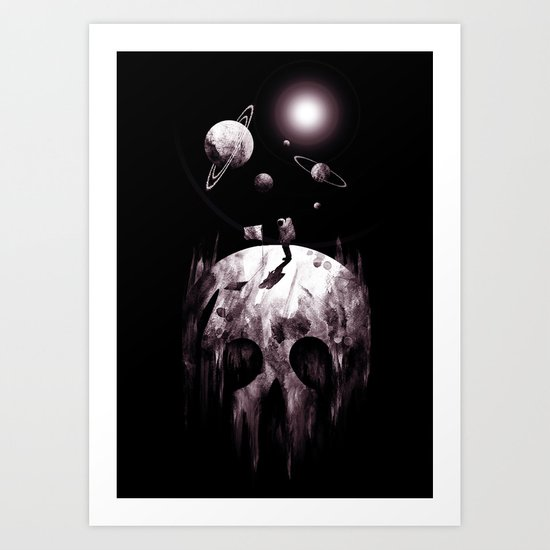 the darkside Art Print
