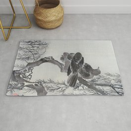 Two Birds On A Branch - Digital Remastered Edition Rug