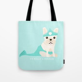 French Baconator Lily the Mermaid Tote Bag