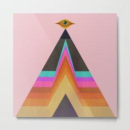 All Seeing - Serpentfire Pyramid Metal Print
