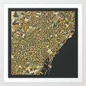 BARCELONA MAP by jazzberryblue