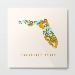 The Sunshine State Metal Print