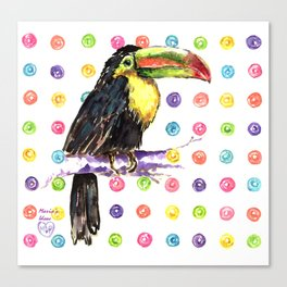 Toucan Happiness Canvas Print