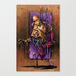 Broken C3PO Fanart Canvas Print