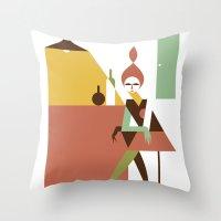bar Throw Pillows featuring Mini Bar by Szoki