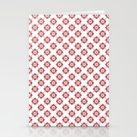 flower pattern Stationery Cards featuring Flower Pattern by Kings in Plaid