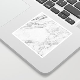 White marble hexagonal beehive Sticker