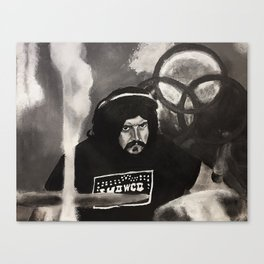 John Bonham,led zeppelin,musician,drummer,sound,black and white,painting,rock and roll, music,album, Canvas Print