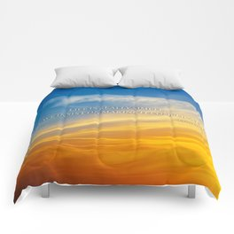 Sunset Confucius Quote Comforters