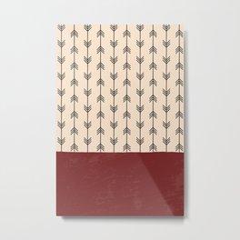 RED ARROW PATTERN Metal Print