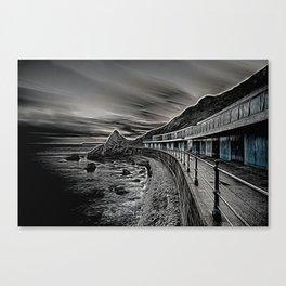 Meadfoot Beach Huts - Digital Canvas Print