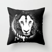 grafitti Throw Pillows featuring Hodari Grafitti 2 by a little Piece of Pie