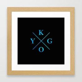 Kygo Blue Logo Framed Art Print